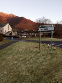 2. Threlkeld - road sign opposite cricket club