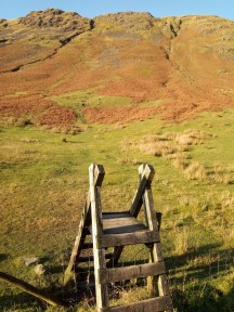3. Dunmail Raise - stile leading to Steel Fell